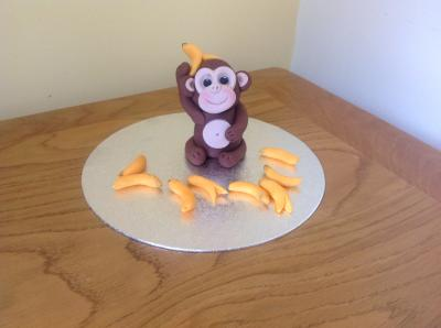 Monkey and Bananas Cake Topper