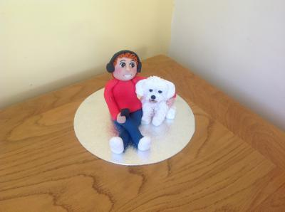 Boy and His Dog Cake Topper