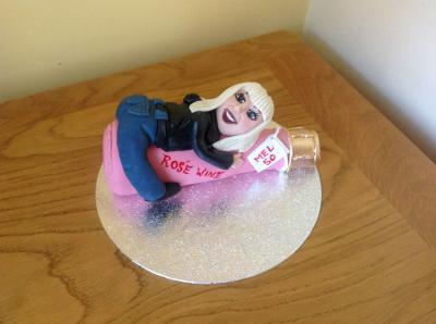 Lady Bottle Cake Topper