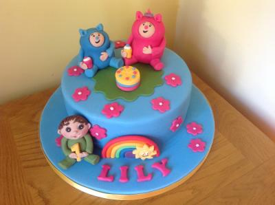 Billy and Bam Bam Rainbow Cake