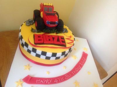 Blaze Truck Cake
