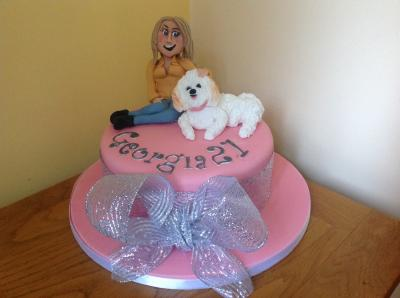Lady and Dog Cake