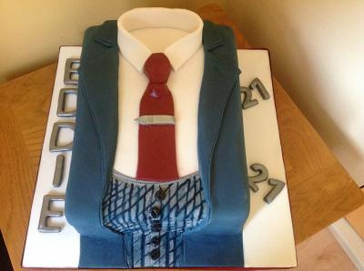 Man Suit and Tie Cake