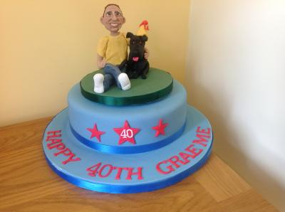 Man and his dog Birthday Cake