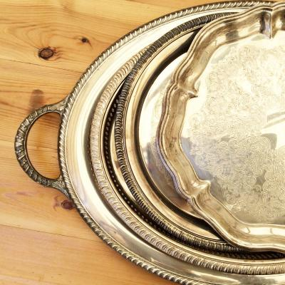 Wedding Yurts Props - Silver trays