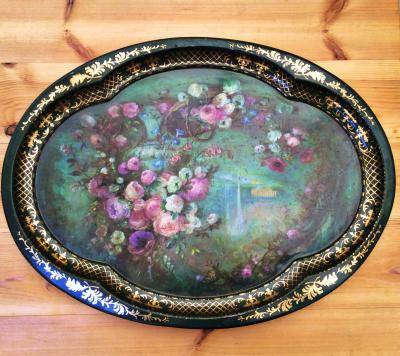 Wedding Yurts Props - Vintage Floral Trays
