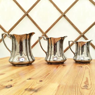 Wedding Yurts Props - Silver Jugs