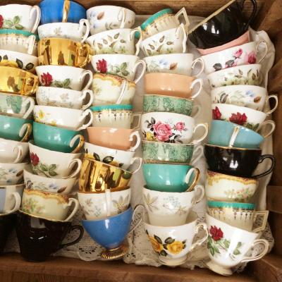 Wedding Yurts Props - Vintage tea cups