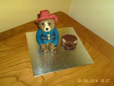 Paddington Bear with Suitcase Cake Topper
