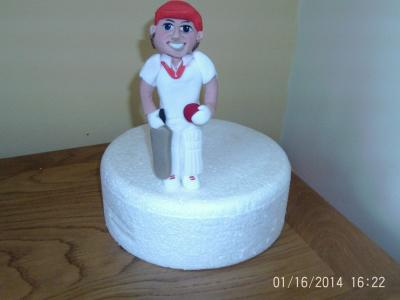 Cricketer Cake Topper