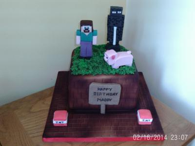 Mine Craft Birthday Cake