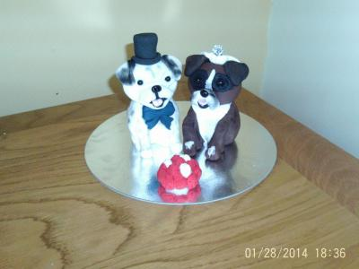 Dogs Wedding Cake Topper