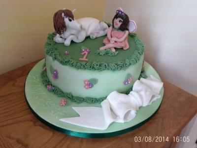 Baby Fairy Cake with Unicorn.
