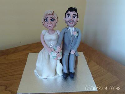 Bride and Groom Wedding Cake Topper