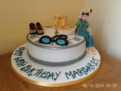 Travelling 50th Birthday Cake