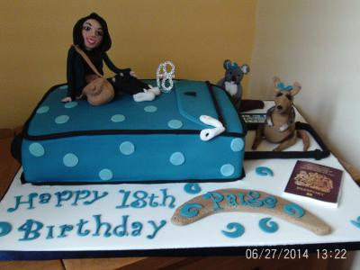 Travelling Theme 18th Birthday Cake