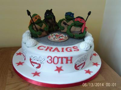 Ninja Turtles Birthday Novelty Cake