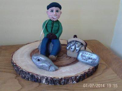 Fishing Theme Cake Topper