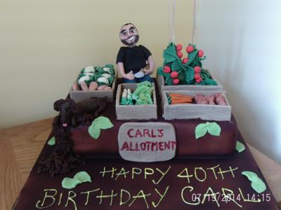Birthday Boy Allotment Cake