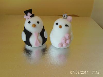 Wedding Bride and Groom Love Birds