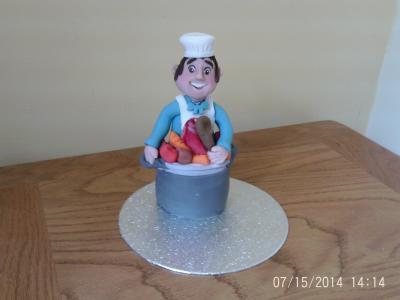 Happy Chef Cake Topper