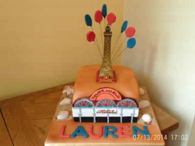 Blackpool Tower Cake