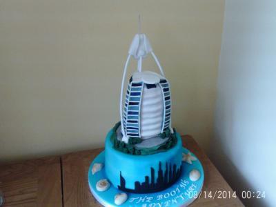 Dubai Burj Cake