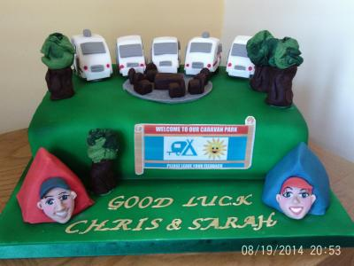 Caravan Holiday Park Cake