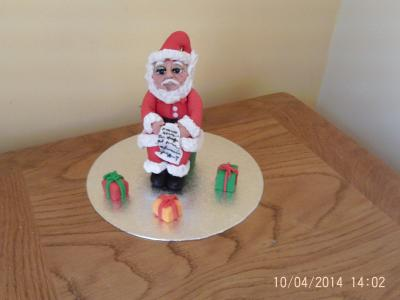 Santa Father Christmas Cake Topper