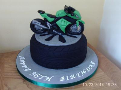 Motorbike Kawasaki Cake