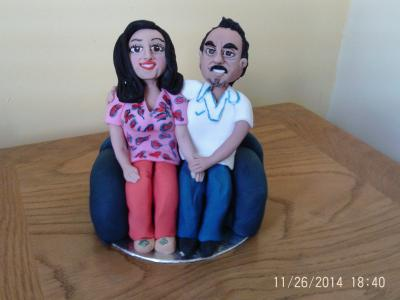Husband and Wife Anniversary Cake Topper