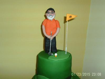Golfer Putting Cake Top Tier