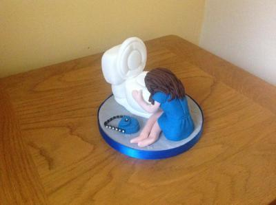 Edible Hangover Toilet Cake Topper