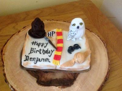 Harry Potter Book Cake Topper