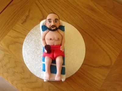 Holiday Beach Sunbathing Cake Topper