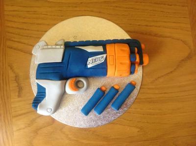 Edible Nerf Cake Topper