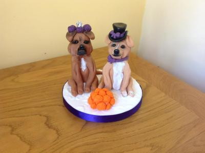 Personalised Dogs Wedding Cake Topper