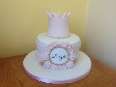 Princess Tiara Christening Cake