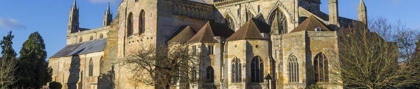 Beautiful Architecture of Tewkesbury Abbey title=