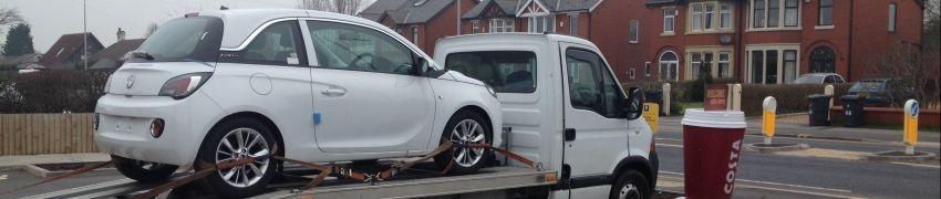 vauxhall Adam car transport from Derby to Oldham