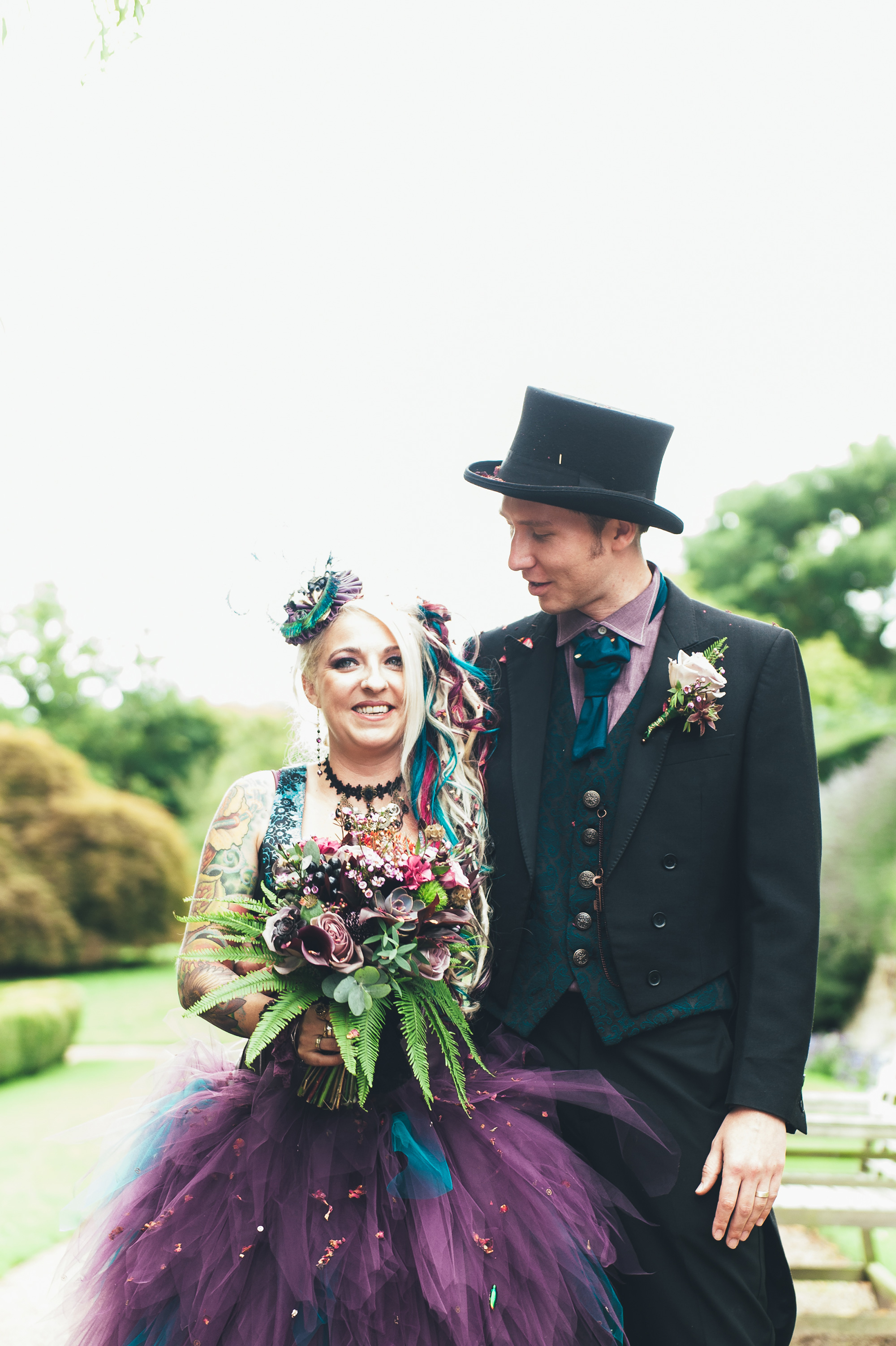 d6f5cb1f6ee And the bride wore purple  Jojo and Andy s steampunk wedding - Real ...