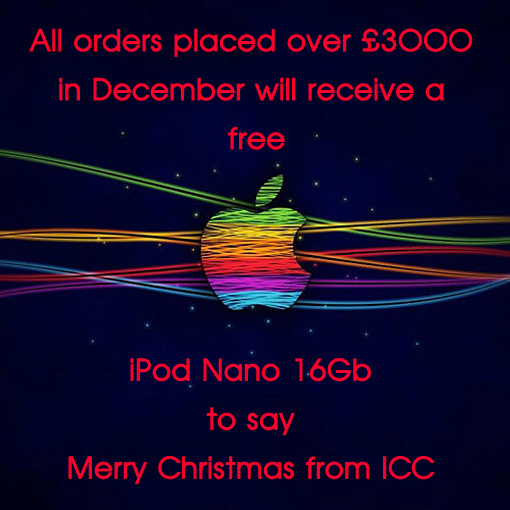 Free iPod Nano on all orders over £3000 in December
