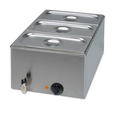 High quality and affordable stainless steel bain marie in various sizes. Comes with or without gastr