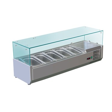 Essential in every deli, sandwich shop, pizza / take away. Our slimline refrigerated topping units c