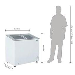 Polar G-Series Display Chest Ice Cream Freezer 200Ltr