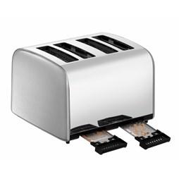 Bartscher Brushed Stainless Steel 4 Slot Commercial Toaster TSBR40