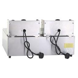 Quattro 2 x  10 Litre Twin Tank Commercial Electric Fryer