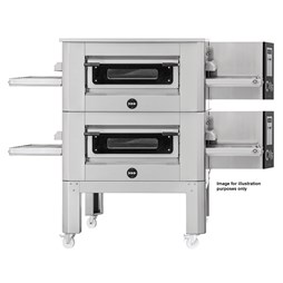 """Italinox Prisma 20"""" Belt Electric Conveyor Pizza Oven C/50 With Free Stand - Single Phase Electric"""