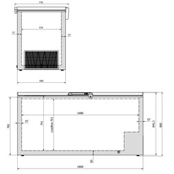 Elcold 700 Litre Chest Freezer With Stainless Steel Lid