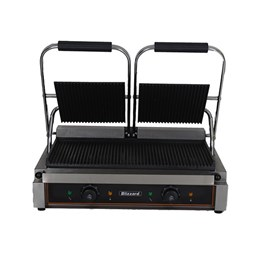 Blizzard 3600W Double Contact Grill Top & Bottom Ribbed